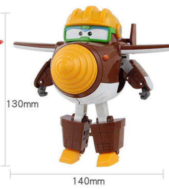 ABS Mästerflygarna Leksak Figur Flygplan Actionfigurer Robot Transformation Anime - Todd