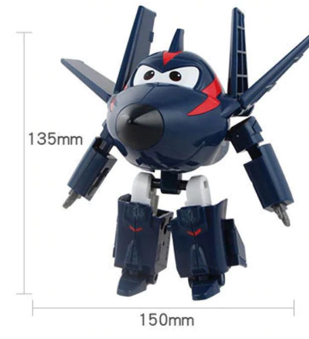 ABS Mästerflygarna Leksak Figur Flygplan Actionfigurer Robot Transformation Anime - Chase