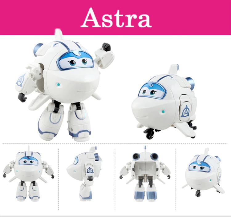 ABS Mästerflygarna Leksak Figur Flygplan Actionfigurer Robot Transformation Anime - Astra