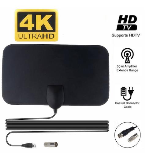 4K 25DB HD TV DTV Box Digital TV Antenn 50 Miles Booster Active Inomhus Aerial HD Ultratunn Design