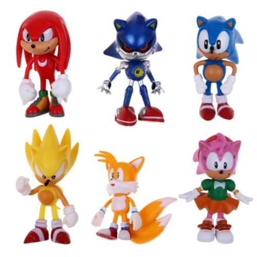 6-Pack Sonic Deluxe Figur Set Leksaker