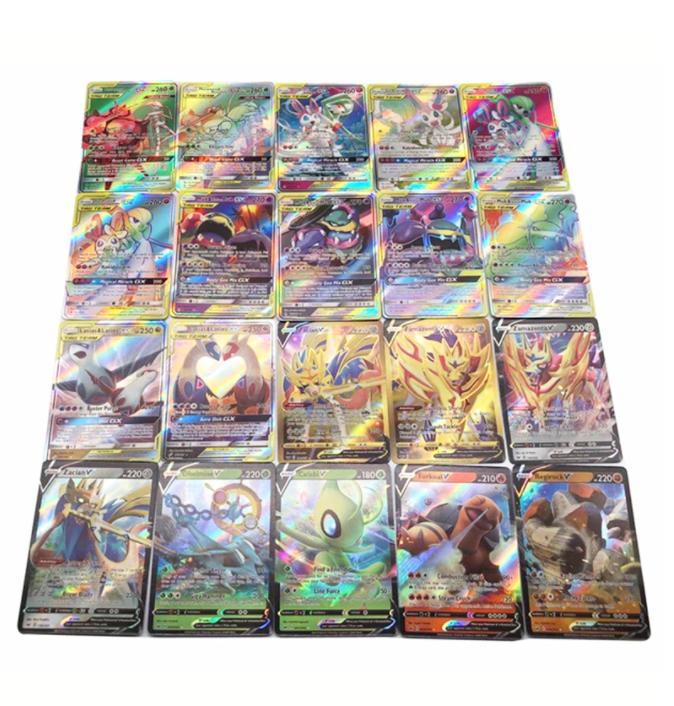 100 st Pokemon Kort (60 st Vmax, 39 st Tag, 1 st GX) 2021