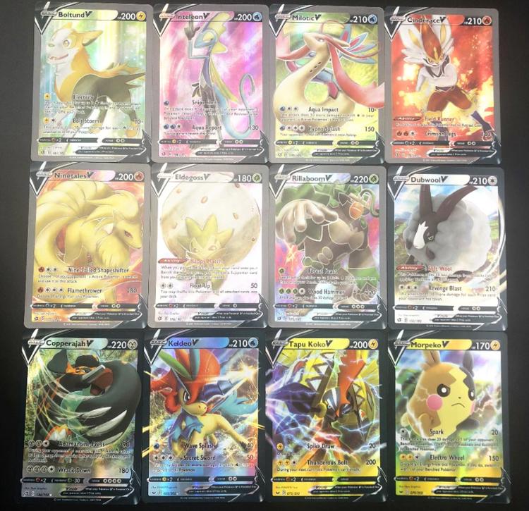 60 st V Vmax Pokemon Kort