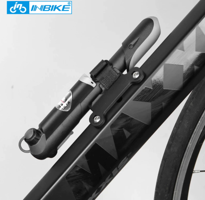 INBIKE Bärbar Cykelpump Mini Handpump Cykling Luftpump Däck Uppblåsare Schrader Presta Valve MTB Mountainbike pump