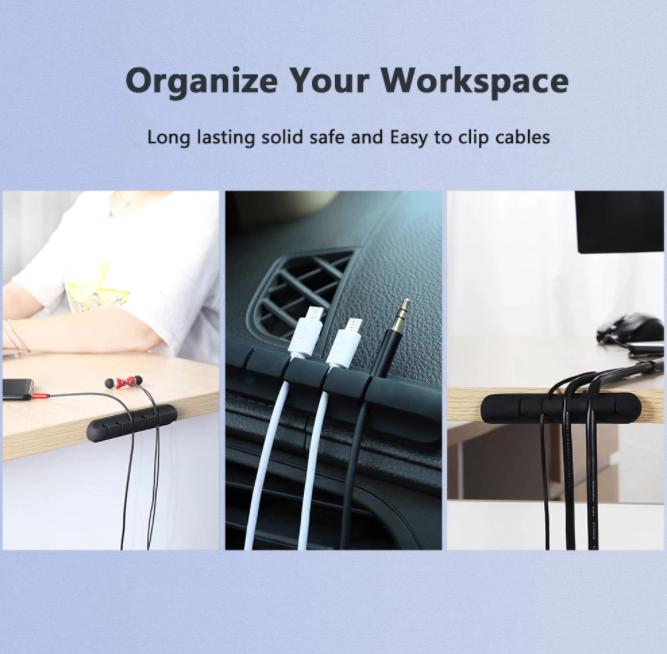 Kabelfäste Kabelhållare USB-hållare Skrivbord för Hörlurar med Mus Desktop Laptop Kontor Hem