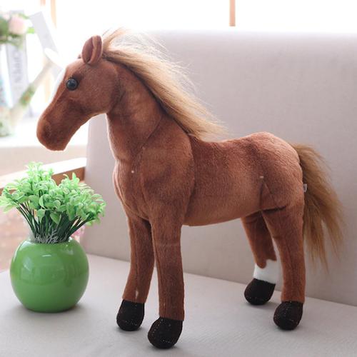Stor Mjukis Docka Häst Ponny Barn Sovrumsdekoration - 50 cm