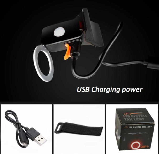 Cykel LED Bakljus Baklampa USB Vattetät