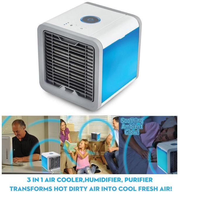 Mini Bärbar Luftkylare Luftkonditionering Multifärg LED USB  Kylfläkt Luftkylningsfläkt