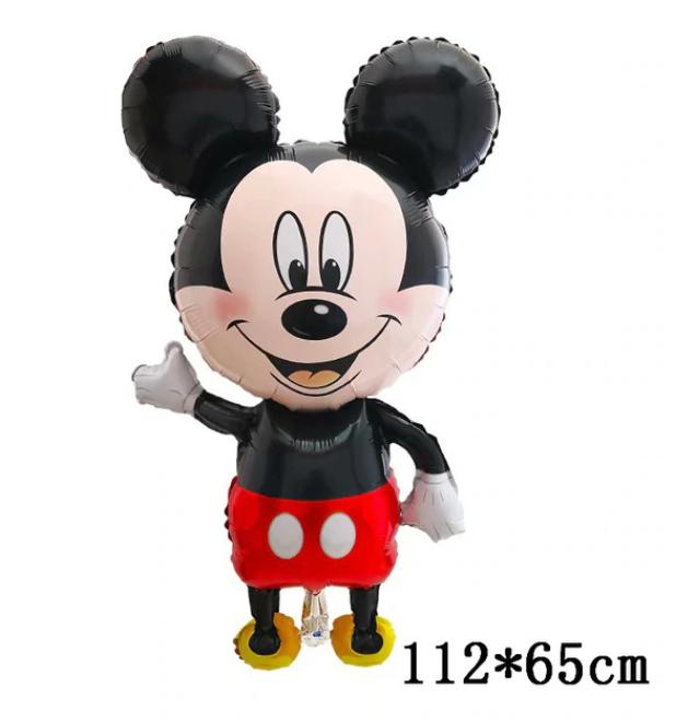 Stor Jätte Musse Pig och Hans Vänner Mickey Minnie Mouse Ballong Disney Tecknad Folie Baby Födelsedagsfest Dekorationer Barn Presenter