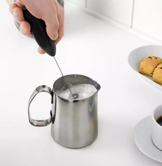 Handhållen Rostfritt Stål Espresso Cappucino Latte Maker Mjölkskummare Rörare Kaffemjölkskummare Skummande Mixer Kök Verktyg Bakning