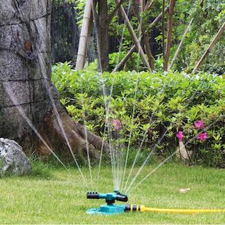 Högkvalitativ 360 graders cirkel roterande trädgårdssprinkler trädgårdsbevattning automatisk vattning gräs gräsmatta vattenspridare munstycken trädgårdssprinkler