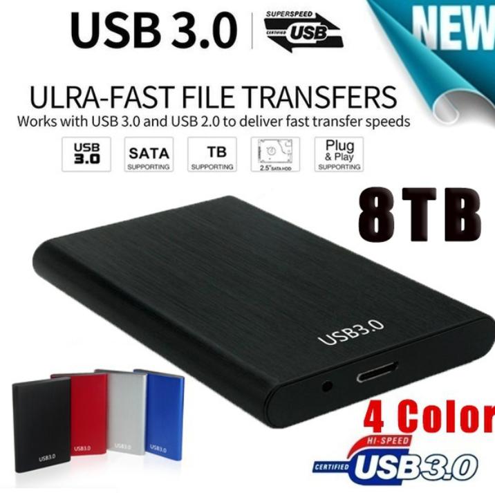 8TB HDD USB3.0 SATA High Speed 2.5\\ Extern Hårddisk High Speed Portable Hard Disk USB 3.0 SATA Hard Storage Devices