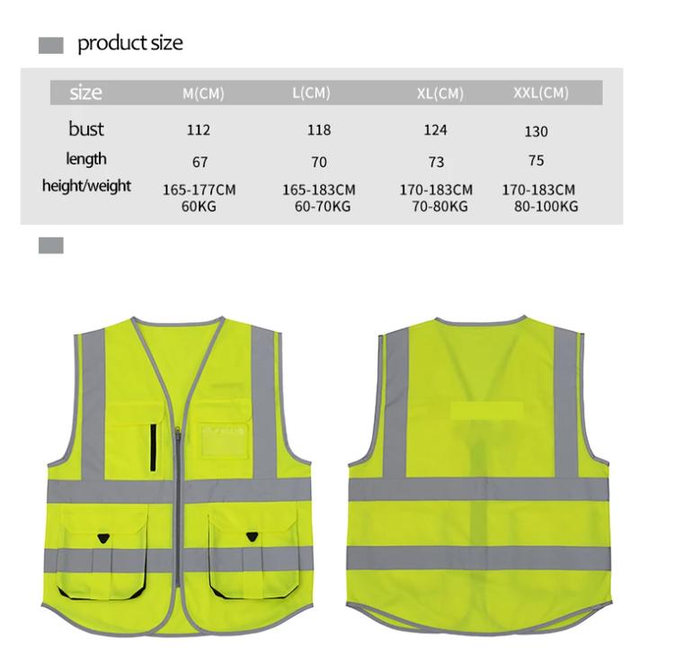 Säkerhetsväst Arbetsväst Verktygsväst Work Wear SFV Reflekt High Visibility