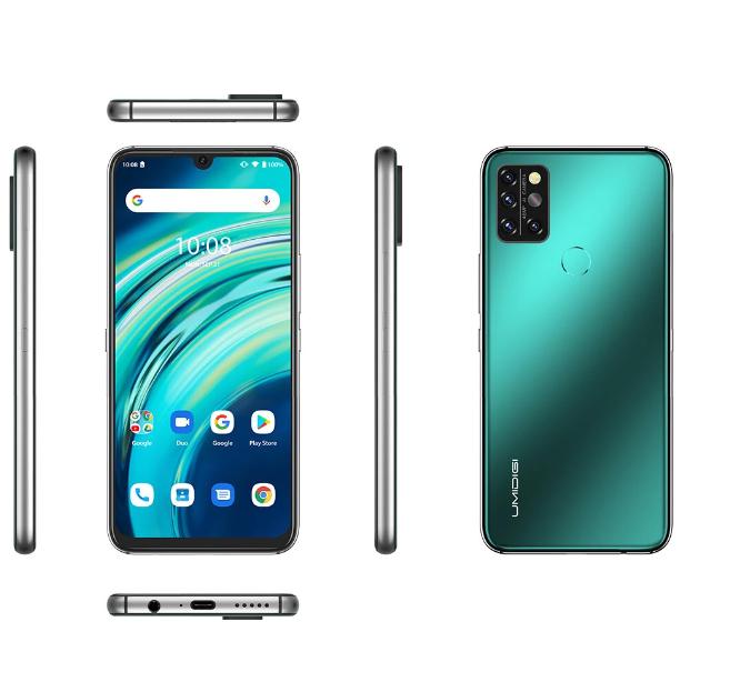 UMIDIGI A9 Pro Global 8 GB  Ram 128 GB Lagring 6,3 tums FHD + IP68 Vattentät Helio P60 Android 11 4150 mAh 48MP AI Matris Fyrkamera 3 kortspår 4G Smartphone