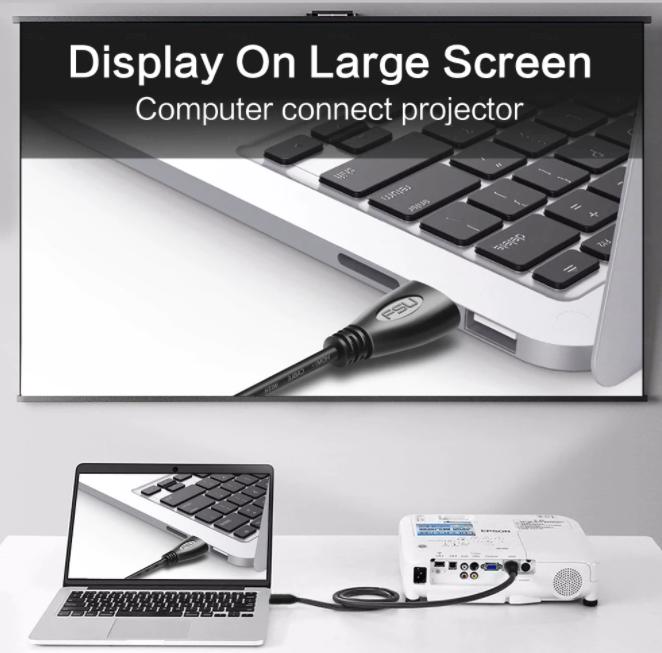 FSU HDMI-kompatibla guldpläterade 1,4 4K 1080P 3D-kabel för bildöverföring DisplayPort till DisplayPort-kabel
