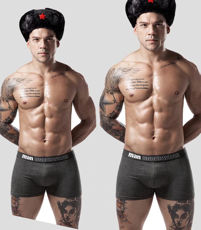 6-Pack Boxarshorts för Män Bekväma Klassiska Boxare Cuecas Masculina Calzoncillos