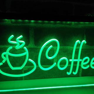 COFFEE NEON LJUS PUB LIGHT SKYLT SIGN NR