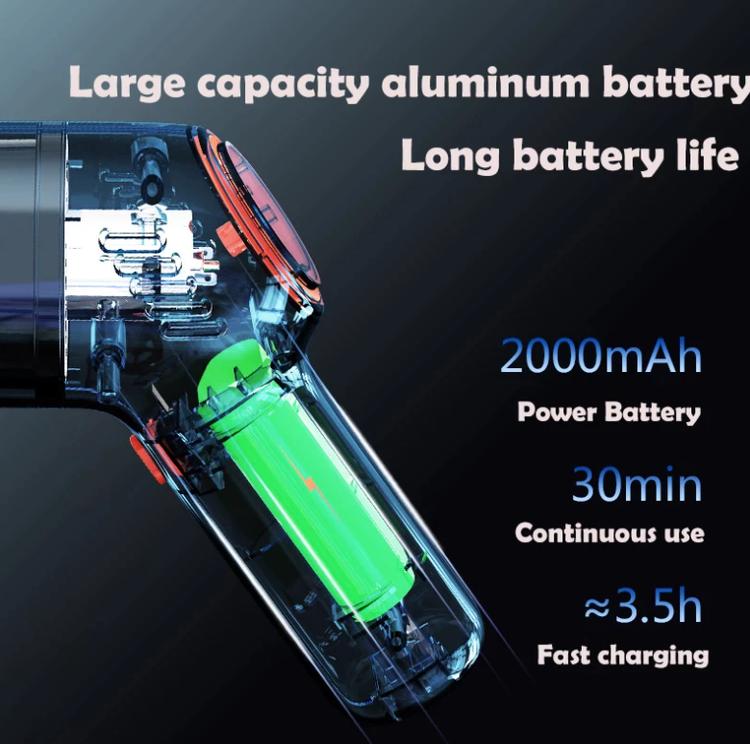 8000Pa Trådlös Bildammsugare Trådlös Handhållen Automatisk Dammsugare Hem & Bil Dubbel användning Mini dammsugare med inbyggt batteri
