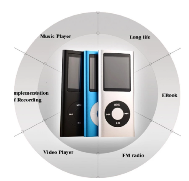 Musikspelare MP 3 Spelare med 32 GB inbyggt minne