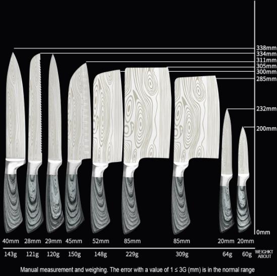 5-Pack Högkvalitativa Japanska Sashimi Knivar