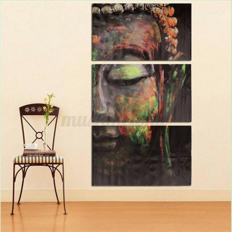 Buddha Oljemålning Canvas Dekoration