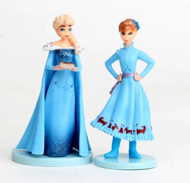 5-Pack Disney Frozen 2 Snow Queen Elsa Anna Olaf Kristoff Sven Anime Leksak Figurer