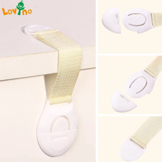10-Pack barnlåsskydd som låser dörrar för barnsäkerhet plastskydd säkerhetslås