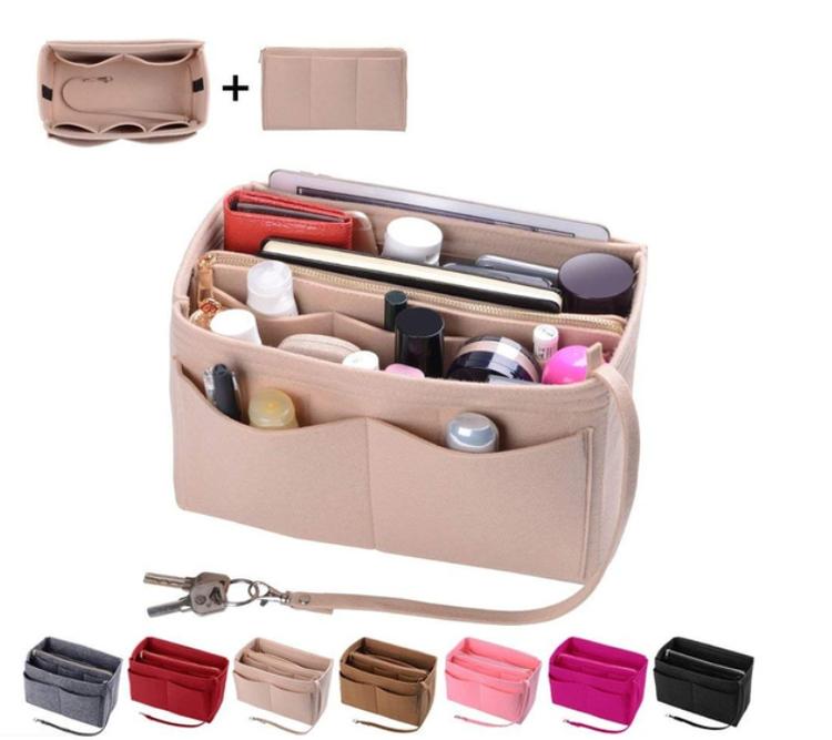 Sminkväska Filtinsatsväska Handväska Portable Kosmetiska Väska