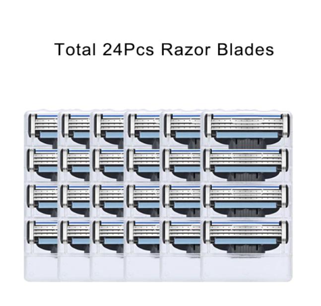 24 st Mach 3 Rakblad För Gillette Män