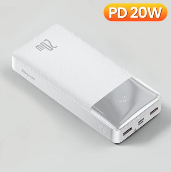 Kraftfull Powerbank 20W 30000mAh bärbar laddning extern batteriladdare
