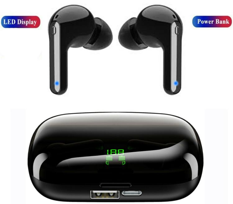 Bluetooth 5.0 Wireless Headphones Earphones Hörlurar Mini In-Ear Pods För iPhone Android med Led-display