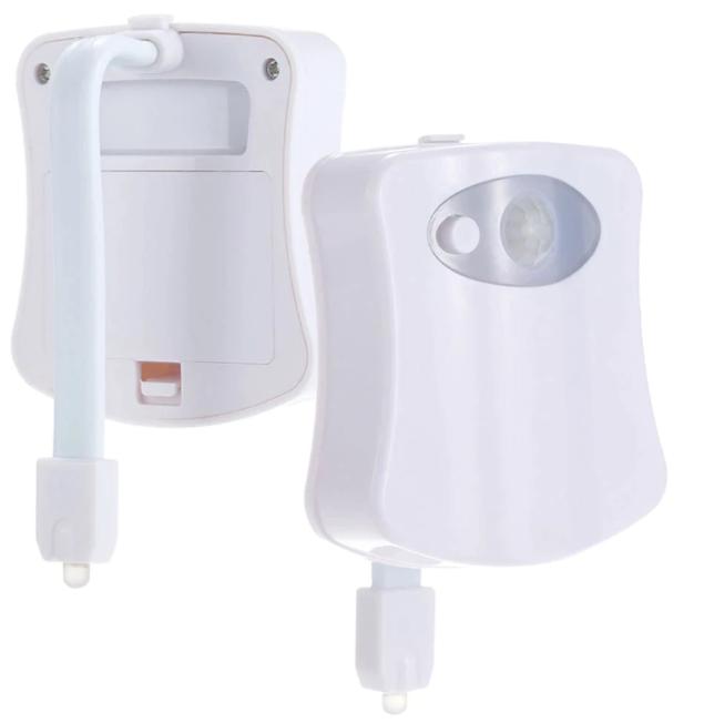 Smart Motion Led Sensor Toalett Sits Nattljus 8 Färger