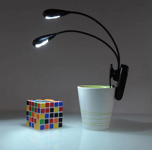 Smart läslampa med klämma