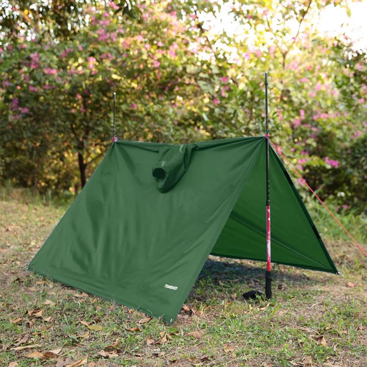 TOMSHOO Multifunktionell Lätt Regnrock med Huva Vandring Cykling Regntäcke Poncho Regnrock Outdoor Camping Tältmatta