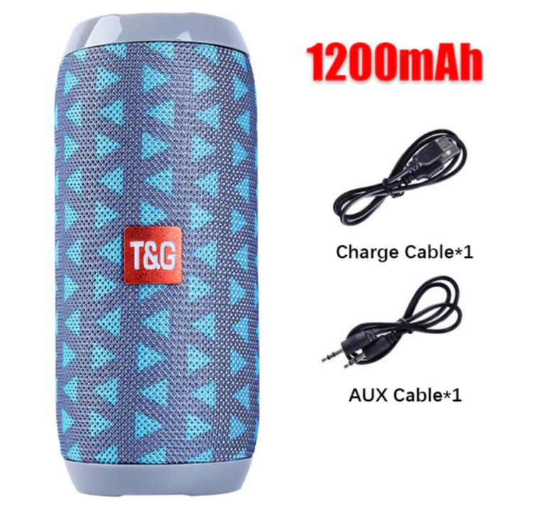 Bärbar Bluetooth -högtalare Trådlös Bashögtalare Vattentäta Utomhushögtalare Boombox AUX TF USB Stereo Högtalare