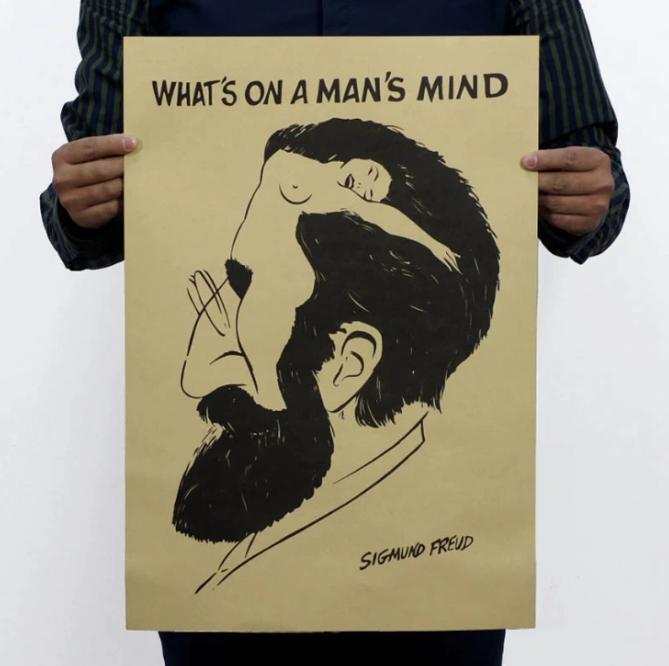 Freud rolig poster vintage affisch wallpaper tapet
