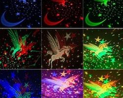 Nattlampa med Stjärnprojektor och enhörning