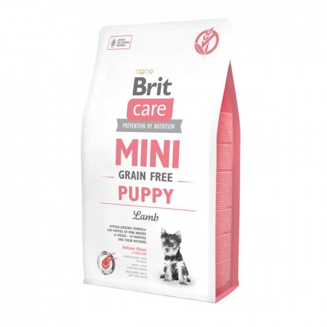 Brit Care Mini Puppy- Lamm. Spannmålsfritt för valpar samt dräktiga/digivande tikar av små raser