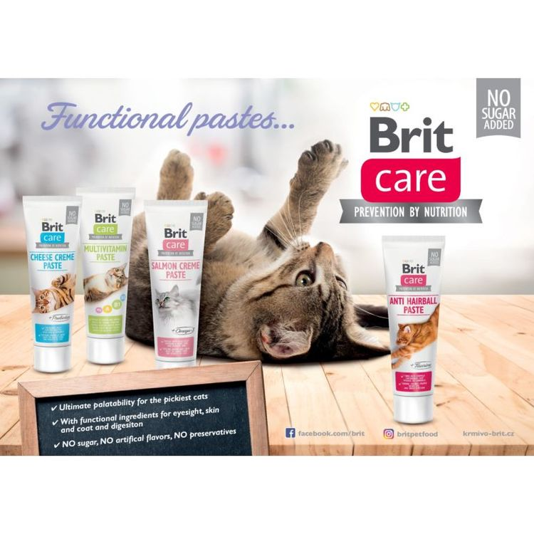 Brit Care Cat Functional Paste Multivitamin creme. Nyttigt kattgodis 100 g