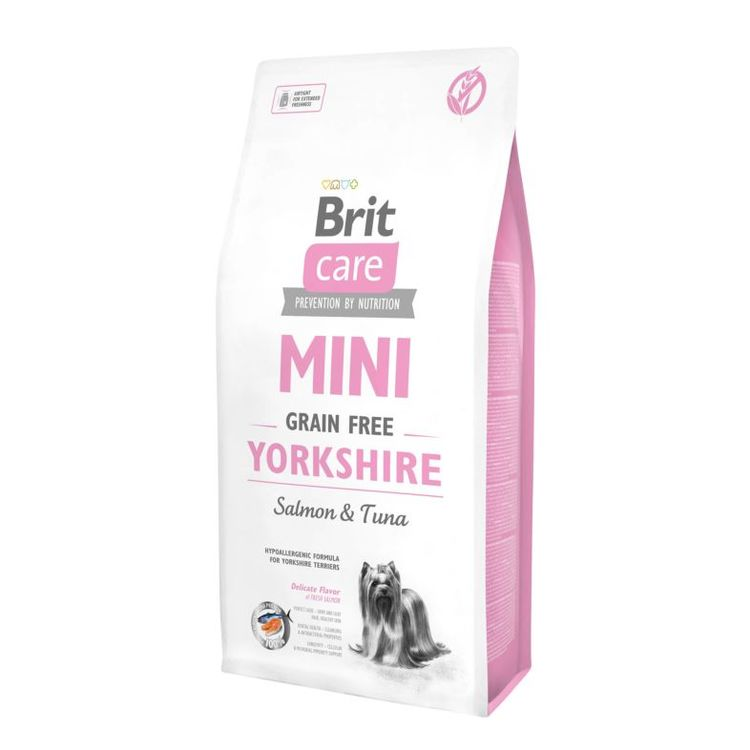 Lax & Tonfisk - Spannmålsfritt Hundfoder Brit Care Dog Mini Grain Free Yorkshire
