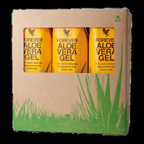 Forever Aloe Vera Gel Tri-Pak 3*1 liter fraktfritt