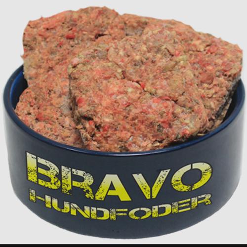 Bravo Valp/Junior med Ox/Lax 8 x150 gr burgare (1,2 kg)