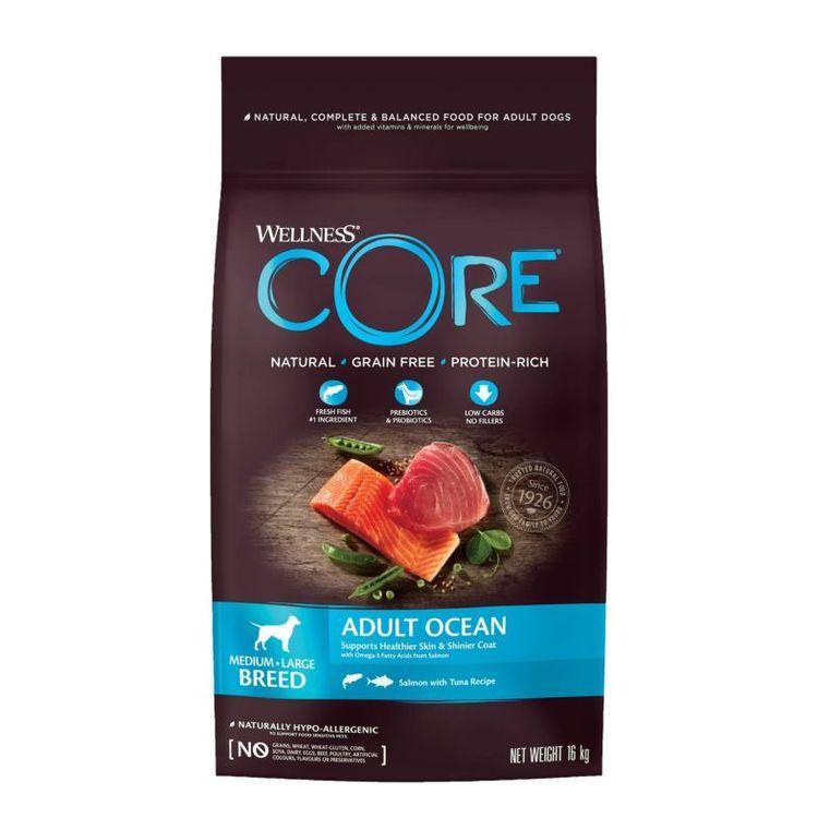 Wellness CORE Dog Adult Ocean Medium & Large Breed Salmon & Tuna. Spannmålsfritt