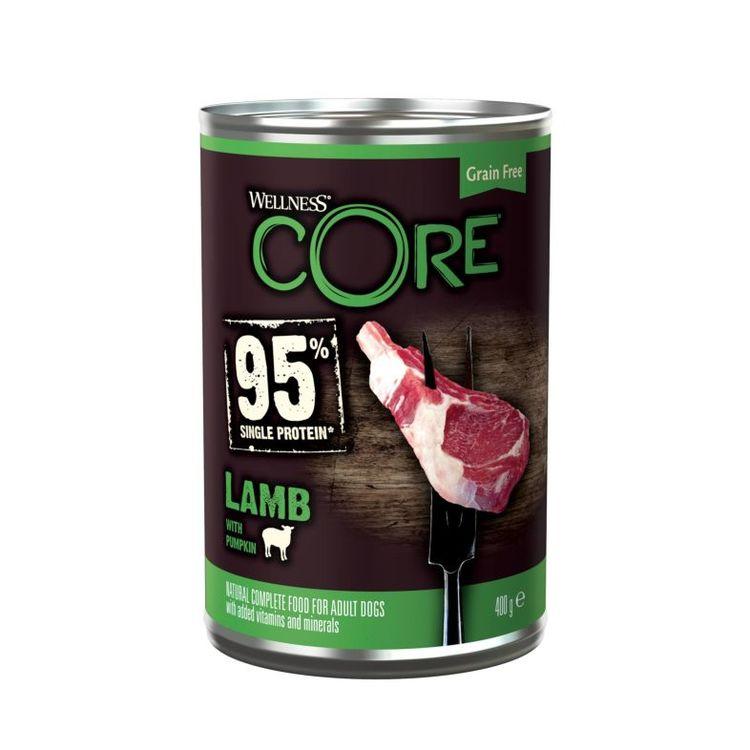 Wellness CORE Dog Adult 95% Single Protein All Breed Lamb & Pumpkin 400 gram