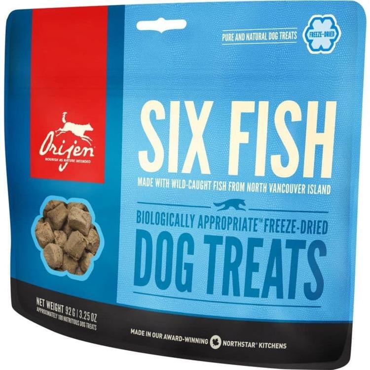 Orijen Dog Treats Six Fish/Fisk - Frystorkat Hundgodis 42,5 gram