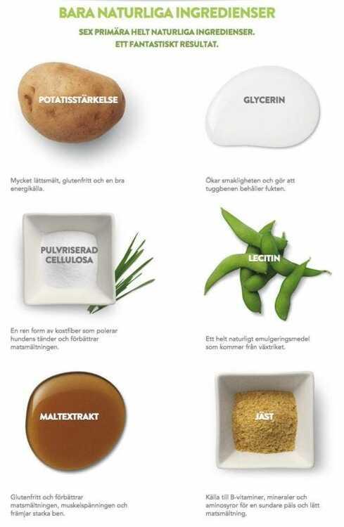 Vegetariska Tuggben Igelkott Whimzees® Large