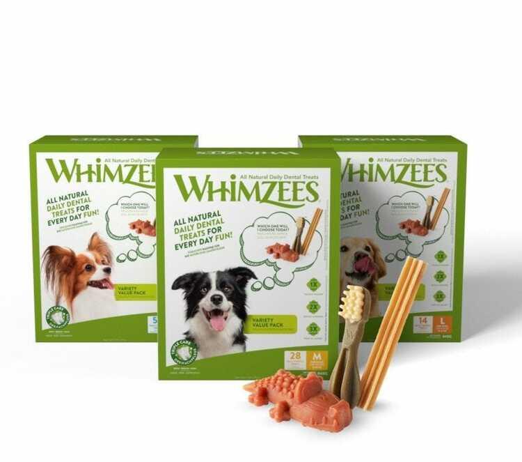 Tandtuggben - Hundtugg Presentpack Whimzees® Variety Value Box Natural Dental Dog Chews - Mixed Shapes