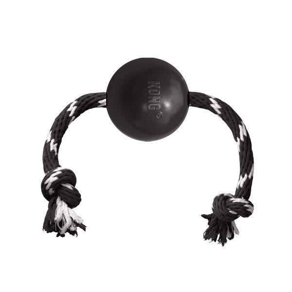 KONG Leksak Extreme Ball med rep Svart 19cm