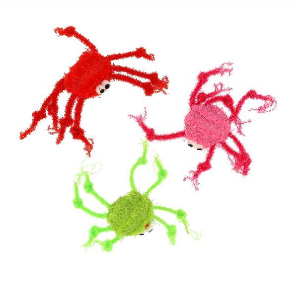 Glittrande Spindlar 3p Flerfärgad 5cm