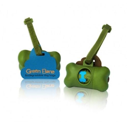 Green Bone Hållare + 1 rulle bajspåsar